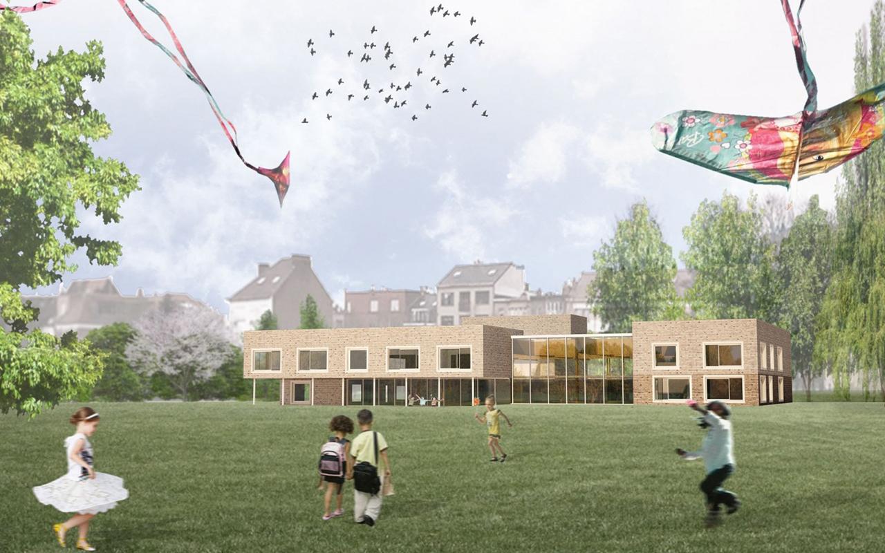 <strong>School en sportcentrum Bempt, Brussel<span><b>groter</b></span></strong><i>&rarr;</i>